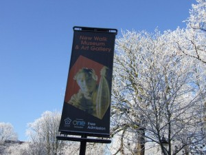 New Walk Museum, Leicester, banner.