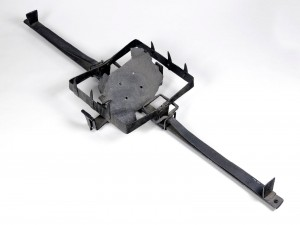 man trap set by gamekeepers for poachers