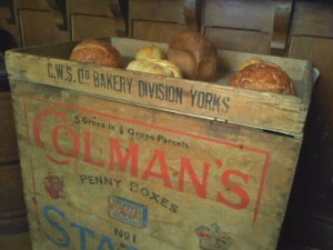 Bread display at the Museum of Lincolnshire Life
