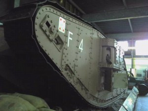 WW1 Tank at the Museum of Lincolnshire Life