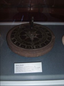 Bronze sundial by Whitehurst and Sons, 1812