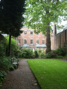 Bromley House Library from the walled garden