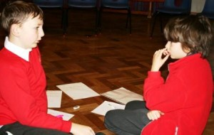 Pupils rework their poems with 'opposite' words