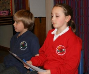 Pupils read out their Haiku poems
