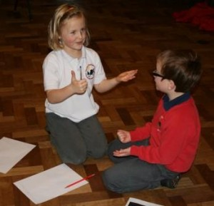 Pupils work out their Haiku poems