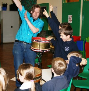 Victor Scott works with pupils from Muskham Primary