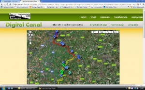 screenshot of digital canal project