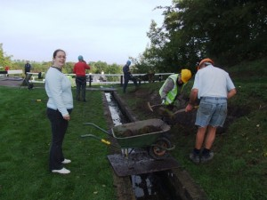 WRG volunteers at work