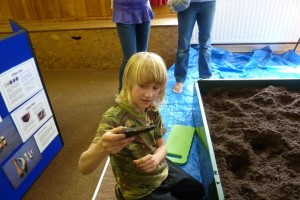 Digging in the Village Hall